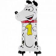 Шар (40''/102 см) Цифра, 1 Собака, в упаковке, 1 шт.   16480