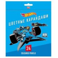 "Карандаши ""Хатбер"" 24цв. Hot WHeels с заточ. 24044 (16620)"