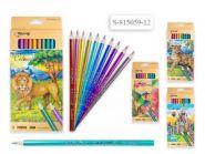Набор цветных карандашей, 12 цветов МЕТАЛЛИК  815059-12  (12938)