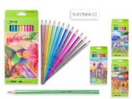 Набор цветных карандашей, 12 цветов перламутр.  815068-12  (12938)