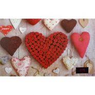 """Накладка на стол """"Proff. Hearts"""" 43*29 см с цветным рисунком  (16891)"""