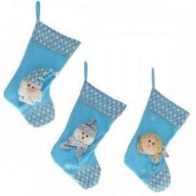 "Носок для подарков ""Санта"", ""Снеговик"", ""Ангел"", 3в., H 50 с  11398"