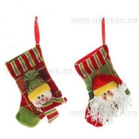 """Носок для подарков """"Дед Мороз, Снеговик"""", L18 W11 H1 см  11439"""